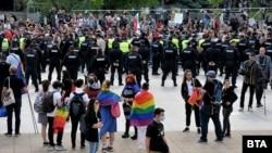 Първият гей прайд в Бургас.