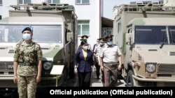 На церемонии передачи военно-технического имущества. 26 мая 2021 года.
