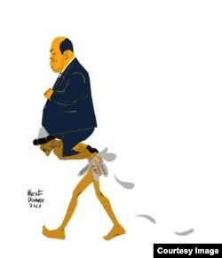 Мұрат Ділмановтың карикатурасы.
