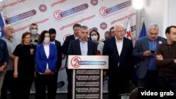 «Европачыл Грузия» партиясынын лидери Давид Бакрадзе.