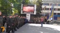 В Івано-Франківську вперше підняли прапор Військово-морських сил України