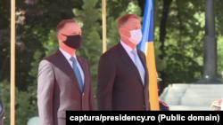 Președintele Poloniei, Andrzej Duda, președintele României, Klaus Iohannis. Buxurești, 10 mai 2021