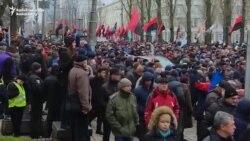Saakaşvilinin tərəfdarları 'impiçment yürüşü' keçirir