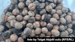 Arslanbob walnuts on sale at a market in Jalal-Abad