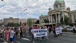 Sa protesta advokata u Beogradu, 1 jula 2021.