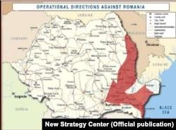 """Direcții de atac dinspre Est către București, prin """"Poarta Focșanilor""""."""