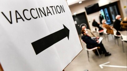 France - People wait to be vaccinated for Covid-19 at a vaccination center in Quimper, western France on January 20, 2021