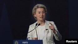 Եվրահանձնաժողովի նախագահ Ուրսուլա Ֆոն դեր Լայենը, 7-ը մաիսի, 2021թ.