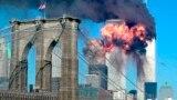 A September 11, 2001 file photo New York City World Trade Center attacks