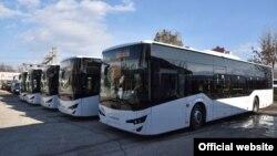 Автобуси за јавен превоз во Тетово.