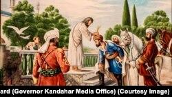 پير صابر شاه پر احمد شاه بابا لاس کښېښود او ويې ويل چې خدای پاک احمد خان په تاسو ټولو کې ستر او شريف پیدا کړی دی او په ده کې د رهبرۍ جوهر شته.