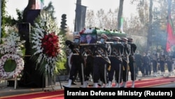 مراسم به خاکسپاری محسن فخریزاده در ایران