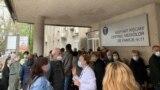 MOldova - coadă la vaccinarea cu Sputnik V, în prima zi, Rîșcani, 4 mai 2021