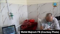 آرشیف، یک فرد بیمار به ویروس کرونا در شفاخانه افغانجاپان در شهر کابل