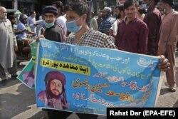 هواداران تحریک لبیک خواهان آزادی سعد حسین رضوی هستند