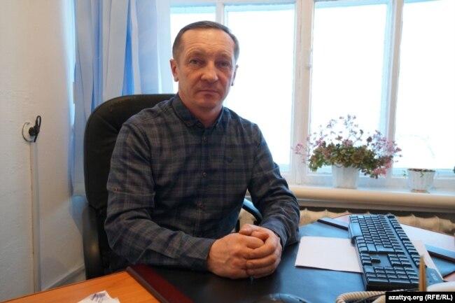 Ақмола облысы Айдабол ауылының әкімі Николай Водовозов. 25 ақпан 2021 жыл.