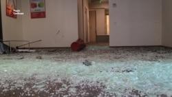 ОУНівці розтрощили приміщення «Альфа-банку» на Хрещатику (відео)
