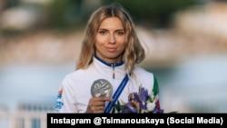 An anonymous buyer purchased Krystsina Tsimanouskaya's silver medal for $21,000.