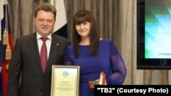 Мэр Томска Иван Кляйн и его жена Галина