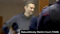Ռուսաստան - Ընդդիմադիր գործիչ Ալեքսեյ Նավալնին դատարանում, Մոսկվա, 5-ը փետրվարի, 2021թ․