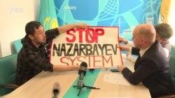 """""""Нұр Отанға"""" барған белсенділер """"Назарбаев кетсін!"""" деп талап қойды"""