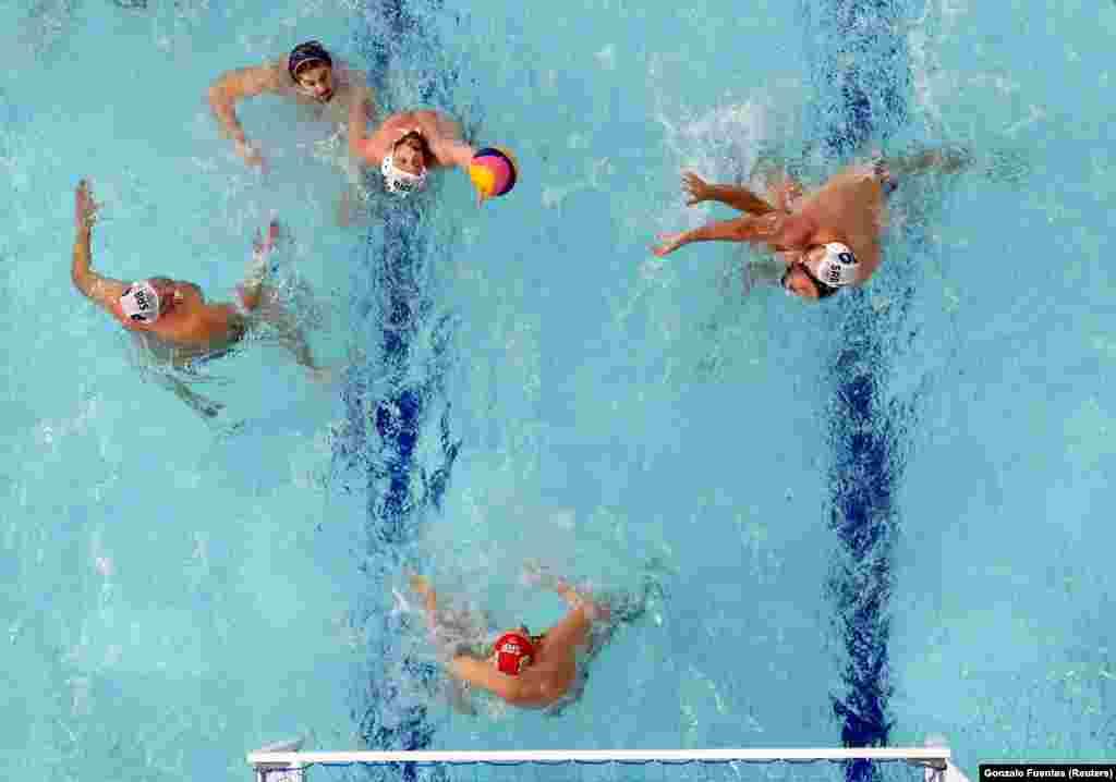 Полуфинал по водному поло среди мужчин. Сербия– Испания. TWC.Центр водного поло Тацуми, Токио, Япония