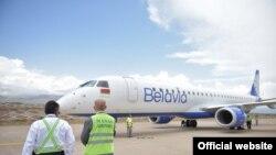 """Беларус премьер-министринин учагы """"Тамчы"""" эл аралык аэропортунда. Ысык-Көл. 19-август, 2021-жыл."""