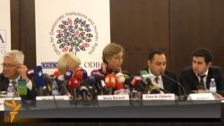 Government Supporters Disrupt OSCE Press Conference In Baku