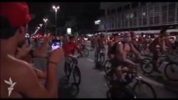 Brazilyada velosipedçilərin çılpaq etiraz