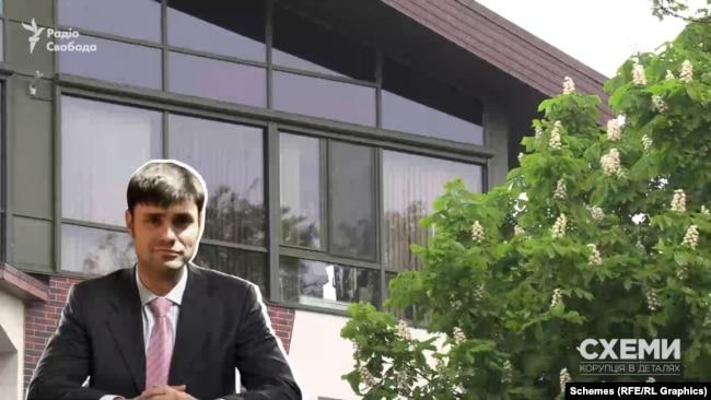 У будівлі в центрі Києва розташований офіс фірми Миколи Вороб'я-молодшого «БелКазТранс-Україна»