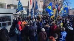 У Києві пікетували посольство Польщі (відео)