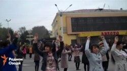 Тамрини «Корвони наврӯзӣ» дар шаҳри Хуҷанд