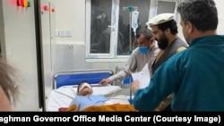 یکی از زخمیان رویداد در شفاخانه مرکزی لغمان