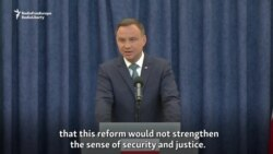 Polish President To Veto Controversial Judicial Reforms