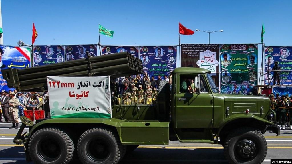 یک نمونه از راکتانداز آرش یا «کاتیوشای ایرانی»