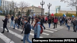 Жители Хабаровска 11 октября идут на митинг