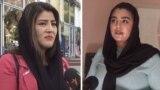 TAJIKISTAN -- Farishta Huseini (left) and Savsan Azizi, afghan refugees in Dushanbe city