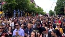 Protesta në Mitrovicën veriore