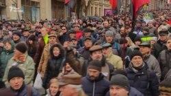 Прихильники Міхеїла Саакашвілі мітингують у центрі Києва (відео)
