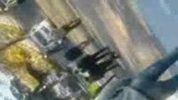 Gəncədə Yol Polisinin binası qarşısında