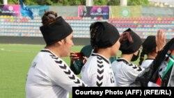 آرشیف، شماری از اعضای تیم ملی فوتبال بانوان افغانستان