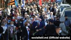 Igor Dodon la marșul organizat de PSRM de 9 mai