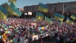 Тысячи в Мариуполе против войны