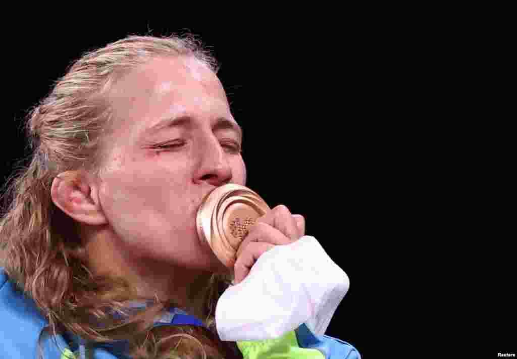 32-річна українська борчиня Алла Черкасова завоювала бронзову медаль на Олімпійських іграх у Токіо