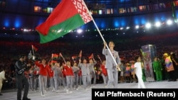 Сборная Беларуси во время Олимпиады в Рио-де-Жанейро, Бразилия, 5 августа 2016 года