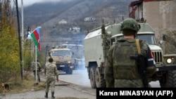 Azərbaycan ordusu Rusiya sülhməramlılarının nəzarətində qalan Laçın şəhərində 1, 2020