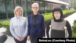 Марыя Цішкоўская, Ірэна Бярнацкая і Ганна Панішава. Фота belsat.eu
