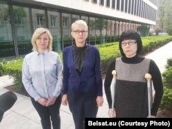 Марыя Цішкоўская, Ірэна Бярнацкая і Ганна Панішава. Фота: belsat.eu