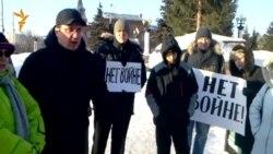 Омск. Народное собрание против войны с Украиной.