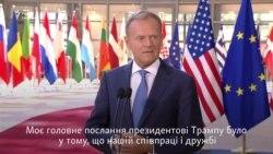 Туск про зустріч з Трампом: маємо спільну думку щодо конфлікту в Україні, але не щодо Росії (відео)